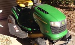 John Deere ride on mower L108, hydrostatic drive.