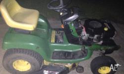 "John Deere LT155 commercial grade mower with a 38"" deck"