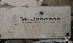 1972 johnson hydro electric driver outboard motor.
