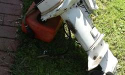 Hi Johnson outboard motor with tank runs well $150