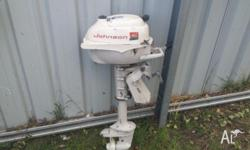 Johnson 3hp twin runs very well and smooth pumps water