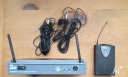 JTS Wireless UHF Lapel Microphone System Never Used