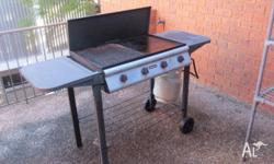 1 year old Jumbuck 4 burner BBQ with Stainless steel