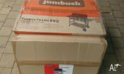 Jumbuck 4 Burner BBQ Timber Frame With Hood Still in