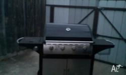 This jumbuck bbq is a 4 burner with a side burner, it