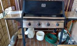 Jumbuck 4 burner hooded BBQ for sale. In proper working