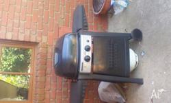 jumbuck two burner gas bbq with hood. bought new in