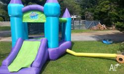 As new jumping castle great for the kids on a sunny day