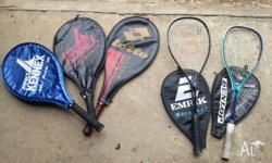 Junior Pro Kennex tennis raquets (x2) and Adult 'Lotto'