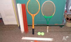 set includes two junior tennis racquet with two tennis