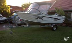 4.69 m Stessco Fisherman 465 EC with a 50 Hp Yamaha