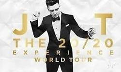 x8 Justin Timberlake 20/20 Experience Concert Tickets @