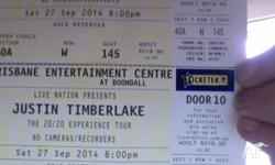 Selling tickets to Justin Timberlake live in concert in