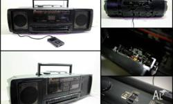 Selling this JVC PC-W100 Radio Double Cassette Boombox.