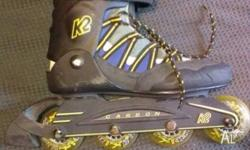K2 Flight 76 Roller Blades Men size US 9 in good used
