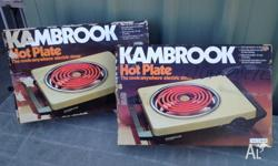 Kambrook 2100w single plate electric portable hotplate.