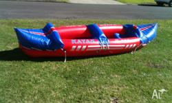 Kampong two person Inflatable Kayak. 90 kg Capacity