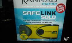 Brand new never used Kannad safe link solo GPS PLB.
