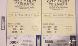 For sale 3 Katy Perry concert tickets. Concert date