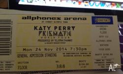 Katy Perry Prismatic World Tour at the Allphones Arena,