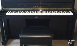 Kawai KX-21 upright Ebony piano with stool (including