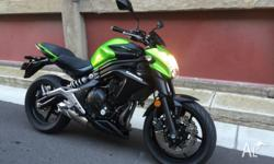 UP FOR SALE IS MY KAWASAKI ER6-NL 2013 650CC,GREEN