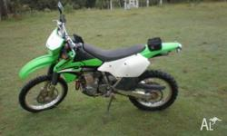KLX400R, vgc, runs well, plenty of power, low kms, can