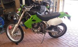 Unregistered Kawasaki KLX 250 2006, I bought this to go
