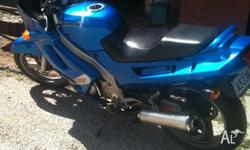 Lams Approved ZZR 250cc, XR6 Ford Blue colour, Imac
