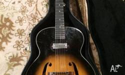 For sale is a brilliant Kay archtop hollow body guitar