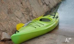 Australian made sit in kayak with paddle, fast boat to