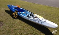 Viking ocean kayak. Great fun, light weight, stable,