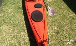 Australis Salamander sea kayak with paddle 5.2 meters