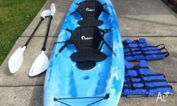 2 man Kayak brand new condition used twice always