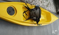 good cond with comfy seat and paddle great paddler 4