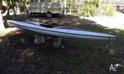 Kayak - Glass - Sit in - very fast and light - 4.2m.