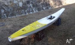 Sit on Kayak Knysna Racing (Guppie). 4.2m in Length &
