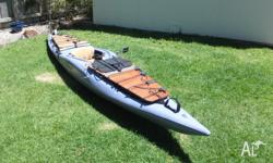 Versatile white water and salt water kayak, that has