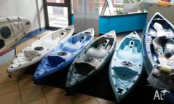 Brand new kayaks, suitable for kids or adults (up to
