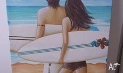 Kelly Lane artwork - canvas print Beach scene -