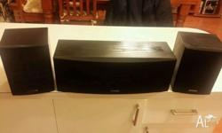 KENWOOD SURROUND SOUND SPEAKERS 8 OHMS EACH IN PERFECT