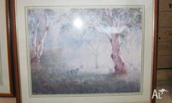 HERE ARE TWO GREAT PRINTS UNDER GLASS FRAMED OF THE