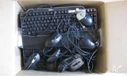 Hallo, I have for sale a box of keyboards and mice. $5