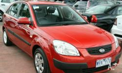 KIA,RIO,JB,2008, FWD, Red, 4D SEDAN, 1599cc, 82kW,