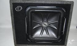"Kicker Solo-Baric S12L7 12"" square car subwoofer for"