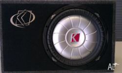 "Kicker CVT 12"" Slimline Subwoofer in carpeted"