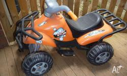 Kids quad bike with battery charger. Hours of fun! Some
