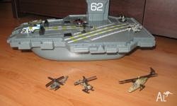 Kids battle ship comes with planes/helicopters and also