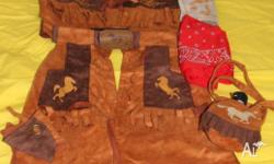 Cowboy / Rodeo / Wild West kids costume. Size 4-7/8