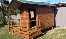 This is a great kids cubby house, it has two windows on